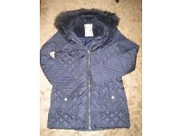 Dark blue winter coat