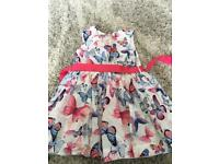 M&S beautiful butterfly dress age 6-7