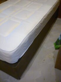 Single 3' divan bed with mattress and headboard