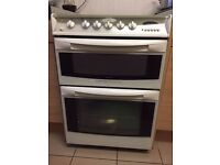 Cannon Cambridge Double Oven - White Gas Cooker