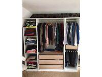 Ikea PAX wardrobe in excellent condition (no doors)