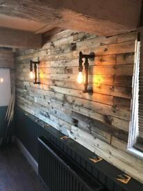 Reclaimed pallet wood 1m2 one square meter