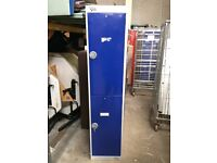 Various single, double & 4 door metal lockers - locked without keys