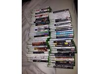 XBOX 360 SLIM 250GB WITH KINECT SENSOR, GUITAR HERO 2 GUITAR AND 63 GAMES. £150.