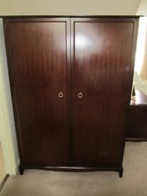 Stag Minstrel 2 door Mahogany Wardrobe in mint condition. Measures Height 70 inches, Width 50 .....