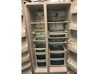 White daewoo fridge freezer American