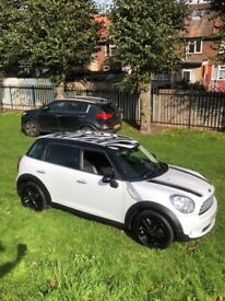 Mini Countryman Cooper pearl white 2012 top spec fully loaded, Sat Nav Aux leather seats