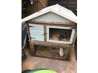 Large hutch FREE needs roof repairing