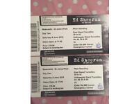 2x Ed Sheeran Standing Tickets Newcastle (Sat 9th June)