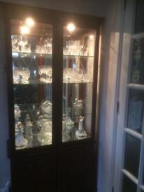 Mahogany display cabinet with lights