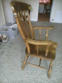 Antique High Back Feature Chair