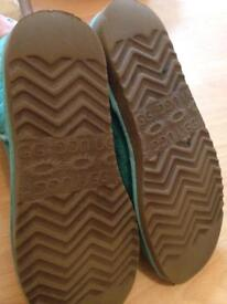 Green and purple ugg boots size 7.5