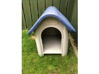 PET PUPPY/SMALL DOG WEATHER PROOF PLASTIC KENNEL DOG HOUSE INDOOR OUTDOOR ANIMAL SHELTER