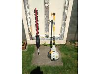 Ryobi petrol hedge trimmer with brush cutter expand it range.