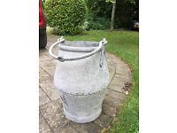 Traditional Galvanised Well Bucket