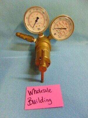 Victor Compressed Gas Regulator W Gauges Srf4 Max 3000 Psig 14 Inlet