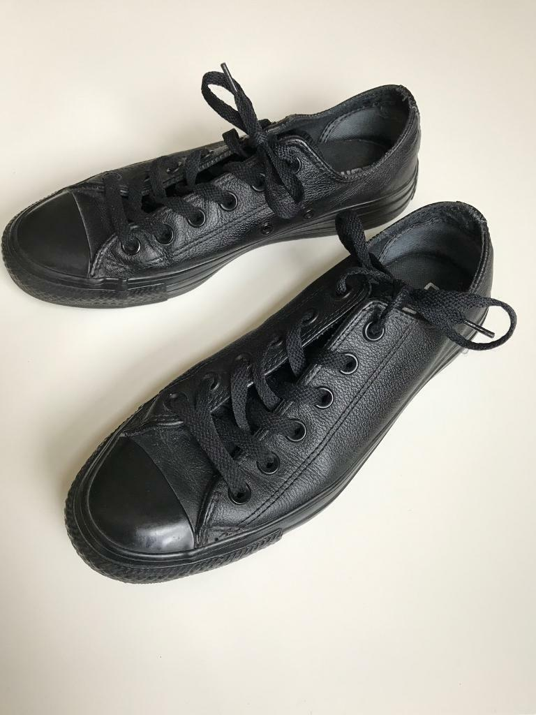 6b5ca0772e96 ... coupon code for black leather converse uk size 6 6fe66 13d22