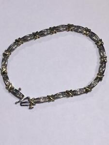 "#1265 10K LADIES DIAMOND BRACELET 8"" IN LENGTH ~ JUST BACK FROM APPRAISAL FOR $1950.00 SELLING FOR ONLY $595.00!!~"