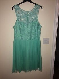 Gorgeous lipsy dress size 12, turquoise or mint green colour, only £10!!!
