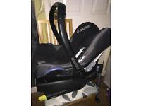 Maxi cosi cabriofix car seat and isofix base.