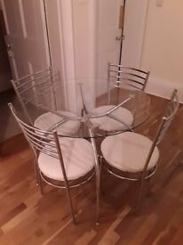 Kitchen/Diner table and 4 chairs