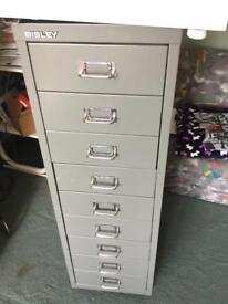 Bisley 9 drawer cabinet