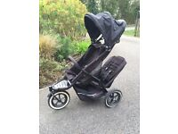 Phil & Teds Black Double buggy.