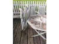 Solid wood patio set