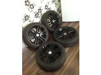 """Vauxhall vectra signum zafira 5 x110 17"""" alloy wheels and tyres"""