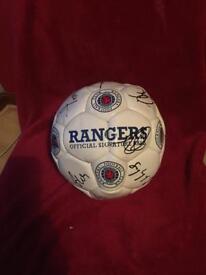 Rangers fc signed football