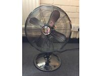 Fan for sale, new, small size, three scales, grey colour, excellent condition