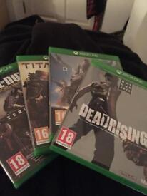 4 Xbox One games being sold (can sell individually)