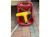 Toddler swing seat with ropes