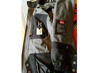 Winter mountain sport goretex jacket haglofs