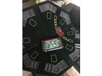 Folding table poker table top and poker set REDUCED