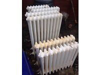 Victorian Cast Iron Radiators x 9 (job lot)