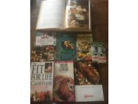 Selection of recipe books £2