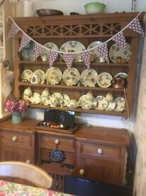 Pine Dresser / Sideboard. Base unit and wall display unit (separate items sold together)