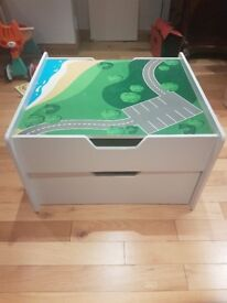 Kids' Activity Table with Two Draw Storage