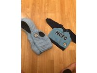 Baby Boys Man City Clothes jumper and reversible jacket age 3-6 Months Excellent Condition