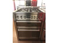 70CM STAINLESS STEEL SMEG DUEL FUEL GAS COOKER