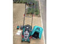 Bosch Rotak 37Li Cordless, Rechargeable Lawnmower with 4.0Ah Battery and Charger