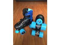 SFR Storm Child's Adjustable Quad Roller Skates - child size 12-2.