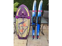 Connelly Water Skis and Obrien Max Freeboard for sale NOW .£100.00 Ono.Tel John on 01925 730582