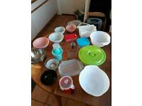 bowls, pans, containers