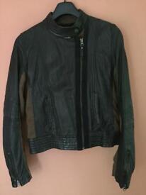 Clements Ribeiro ladies leather jacket size M