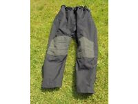 Black textile motorcycle trousers by TT Leathers XL
