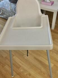 ANTILOP Highchair with tray White color - Ikea