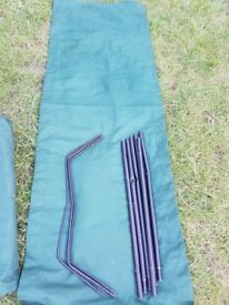 3 leg camp bed GREEN Camping Bed