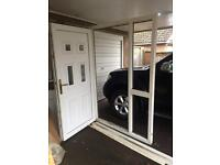Free UPVC double glazed front door and surrounding unit.
